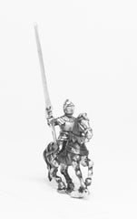 MER6a  Late Medieval: Knights, 1400-1430AD in Full Plate & Great Helm, with Lance on Unarmoured Horse