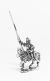 MER7a Late Medieval: Knights, 1400-1430AD, in Full Plate & Great Helm with Lance on Unarmoured Horse