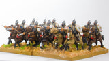 MOG3b Moghul Indian: Heavy Cavalry with Bow, Shield & forward facing Spear on Unarmoured Horse