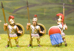MP39a Spartan Hoplites in Assorted Helmets