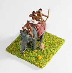 MEPA37 Classical Indian: Elephant with driver & two archers