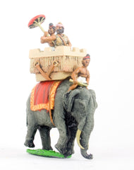 MEPA36 Classical Indian: General in howdah with umbrella holder mounted on elephant with driver