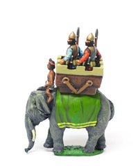 MEPA82 Carthaginian: Indian Elephant with driver & two javelinmen in howdah