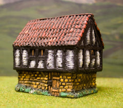 ZX17 Pre-Painted Medieval Bailff's House with Tiled Roof (15mm scale)