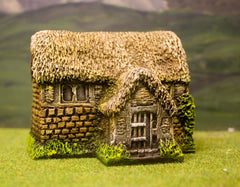 ZX15 Pre-Painted Medieval Stone House with Thatched Roof (15mm scale)