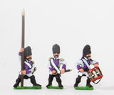 NSS14 Early Spanish Infantry: Command: Grenadier Officer, Standard Bearer and Drummer