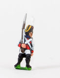 NSS6 Early Spanish Infantry: Line Fusilier in Long Coat & Bicorne with Musket upright, advancing