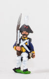 NSS7 Early Spanish Infantry: Light Infantry in Long Coat & Bicorne with Musket upright, advancing