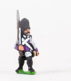 NSS8 Early Spanish Infantry: Grenadier in Long Coat & Bicorne with Musket upright, advancing