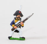 NSS9 Early Spanish Infantry: Line Infantry in Long Coat & Bicorne with Musket at 45 degrees, at the ready
