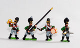 NV10 Bavarian 1805-14: Line Grenadiers or Jagers: Command: 2 Officers, 1 Drummer, 1 Hornist, 2 Standard Bearers