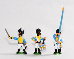 NV11 Bavarian 1805-14: Line Grenadiers or Jagers: Command: 2 Officers, 2 Standard Bearers & 2 Drummers