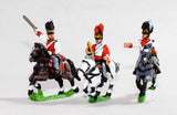 NV18 Bavarian 1805-14: Command: Dragoon Officer, Standard Bearer & Trumpeter