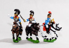 NV21 Bavarian 1805-14: Command: Cuirassier Officer, Standard Bearer & Trumpeter