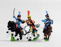 NV25 Bavarian 1805-14: Command: Hussar Officer, Standard Bearer & Trumpeter