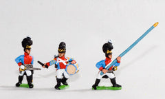 NV9 Bavarian 1805-14: Line Grenadiers or Jagers: Command: 2 Officers, 2 Drummers, 2 Standard Bearers