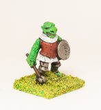 FAN36 Scaley Orc: with Club and Shield