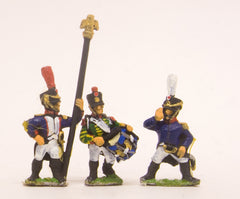PN16 French: Command: Officer, Standard Bearer & Drummer advancing