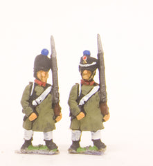 PN19 French: Line Fusilier in Greatcoat, advancing