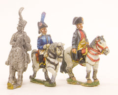 PN34 French: Command: Napoleon & 2 Staff Officers (Mounted)