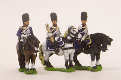 PN37 French: Command: Mounted Grenadier Officer, Standard Bearer & Trumpeter