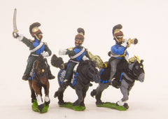 PN41 French: Cavalry: Command: Line Lancer Officer, Standard Bearer & Trumpeter