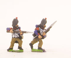 PN47 French: Old Guard: in Campaign Dress & Chapeau, in charging poses