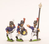 PN48 French: Old Guard: Command: in Campaign Dress & Bearskin, charging