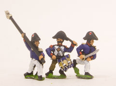 PN49 French: Old Guard: Command: in Campaign dress & Chapeau, charging