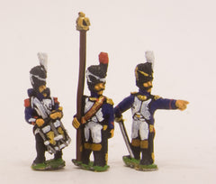 PN4 French: Guard Chasseur: Command:  Officers, Standard Bearers & Drummers