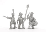 PN51 French: Middle Guard 1806-1814: Command: Fusiliers Chasseurs Officers, Standard Bearers & Drummers
