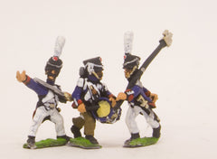 PN53 French: Middle Guard 1806-1814: Command: Fusiliers Grenadiers Officers, Standard Bearers & Drummers
