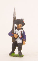 PN54 French: Line Infantry 1793-1806: in Bicorne, Advancing with musket upright