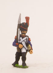 PN56 French: Line Infantry 1793-1806: Grenadier in Bearskin, advancing with Musket upright