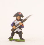PN58 French: Line Infantry 1793-1806: in Bicorne advancing with Musket at 45 degrees