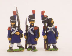 PN5 French: Old Guard in Greatcoat & Bearskin, assorted poses