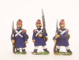 PN7 French: Old Guard or Chasseur: in Greatcoat & Bonnet de Police, in assorted poses