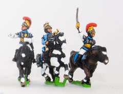 PN90 French: Cavalry: Command: Carabinier Officer, Standard Bearer & Trumpeter