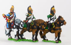 PN92 French: Cavalry: Command: Empress Officer, Standard Bearer & Trumpeter