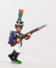 PN97 French: Young Guard 1809-1815: TirailleursGrenadiers or TirailleursChasseurs: Advancing with Musket at 45 degrees