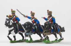 PNB20 British Cavalry: Command: Light Dragoon Officer, Standard Bearer & Bugler