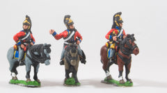 PNB22 British Cavalry: Command: Heavy Dragoon Officer, Standard Bearer & Bugler