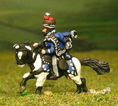 PNB24 British Cavalry: Command: Hussar Officer, Standard Bearer & Bugler