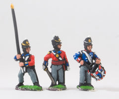 PNB3 British 1814-15: Command: Officers, Standard Bearers & Drummers