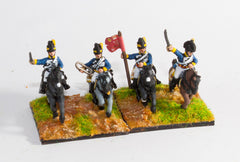PNB40 British Cavalry 1800-13: Command: Light Dragoon Officer, Standard Bearer & Trumpeter
