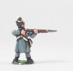 PNB4a British 1814-15: Line or Flank Coy in Greatcoat firing