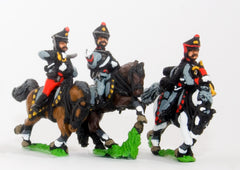 PNR16 Russian 1813-15: Command: Hussar Officer, Standard Bearer & Trumpeter