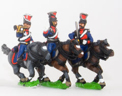PNR22 Russian 1813-15: Command: Lancer Officer, Standard Bearer & Trumpeter