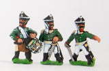 PNR3 Russian 1813-15: Command: Line Officer, Standard Bearer & Drummer