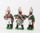 PNR9 Russian 1813-15: Command: Pavlov Lifeguard Officer, Standard Bearer & Drummer